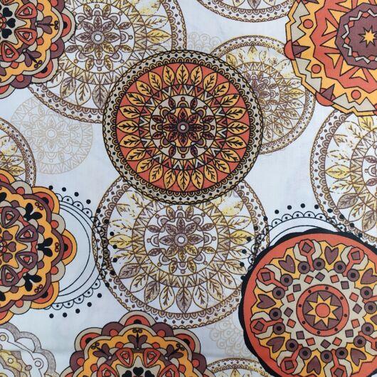 Pamutvászon – Mandala mintával, terrakotta színben