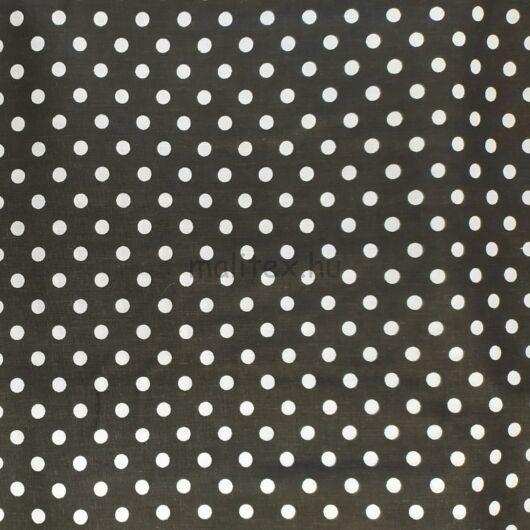 Pamutvászon – Fekete, fehér 6mm pöttyös mintával