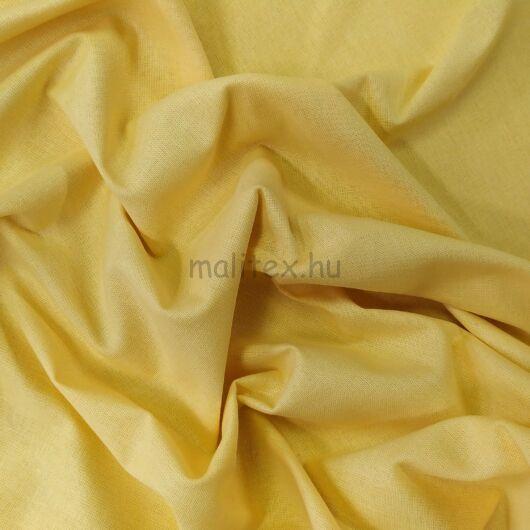 Pamutvászon – Halvány sárga színű üni