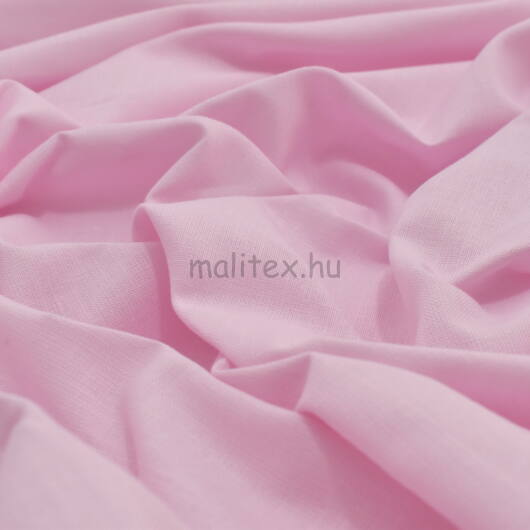 Pamutvászon – Halvány rózsaszínű üni, 240cm széles!