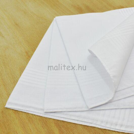 Textil zsebkendő – Fehér színben, 3db-os, nagy méretű