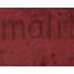 Kép 5/5 - Plüss velúr – Bordó színű üni