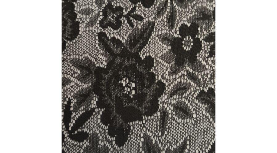2332def907 Elasztikus csipke – Fekete színben, változatos virág mintával