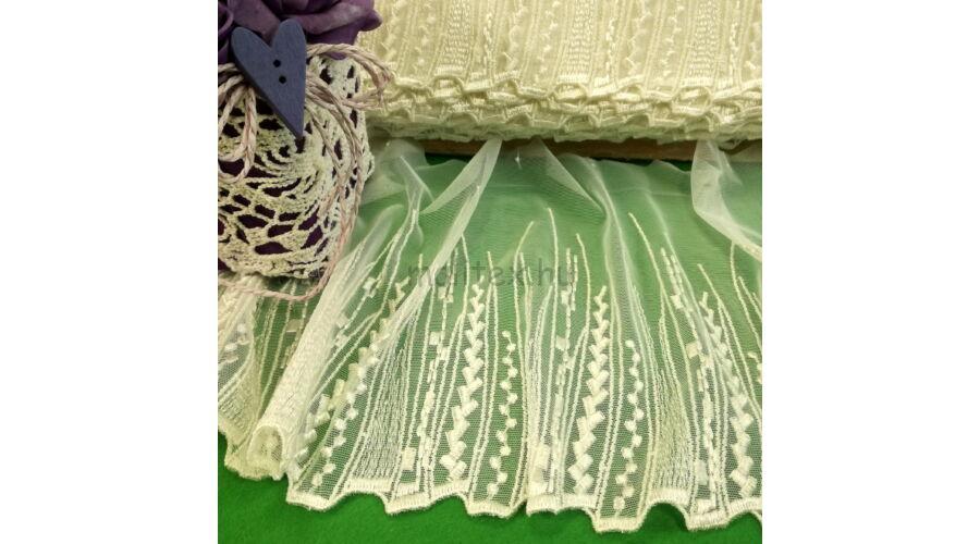 Csipke szalag – Fehér színű hímzett tüll csipke 74f5775b53