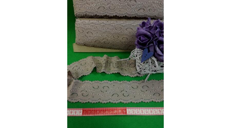 1172dfa673 Csipke szalag – Bézs színű elasztikus műszálcsipke