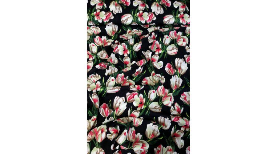 Viszkóz selyem – Tulipán mintával d37980a869