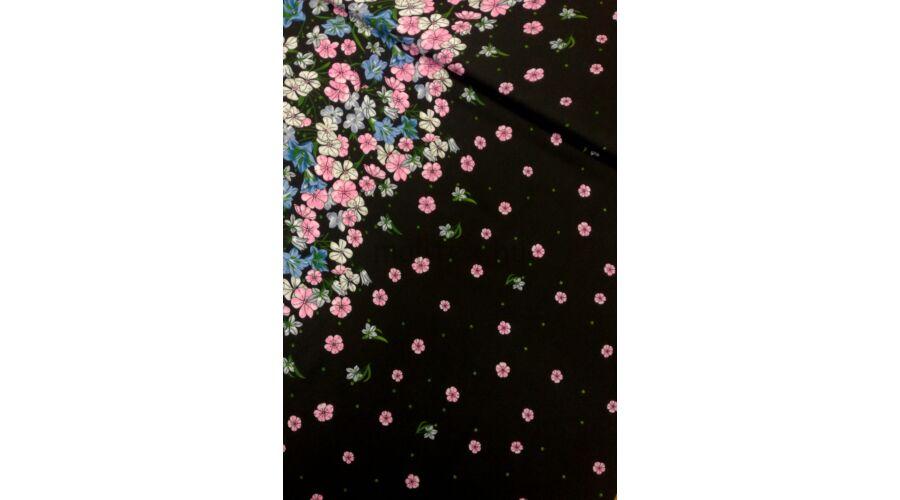 Viszkóz selyem – Bordűrös virág mintával c2e8bda353