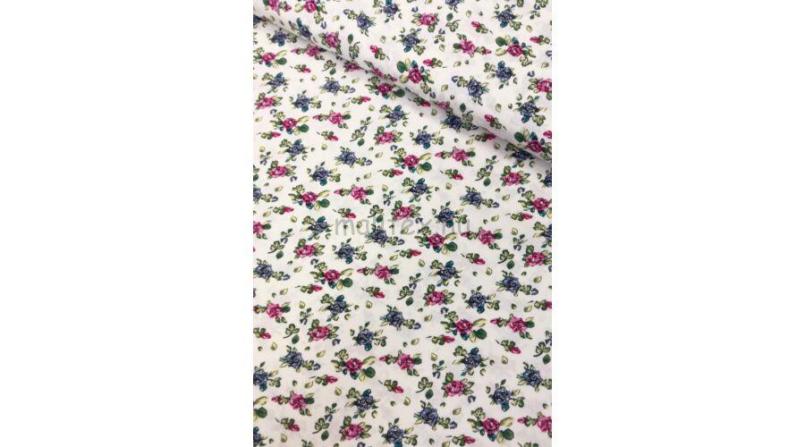 Viszkóz selyem – Színes virág mintával 360fdf406e